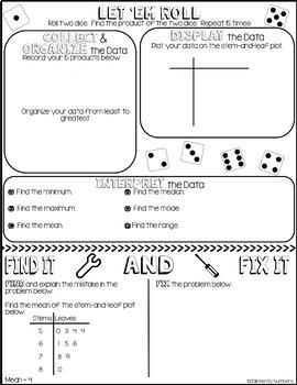Stem-and-Leaf Plot Doodle Notes