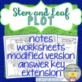Stem-and-Leaf Plot Explanation and Worksheet