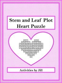 Stem and Leaf Plot Heart Puzzle FREEBIE