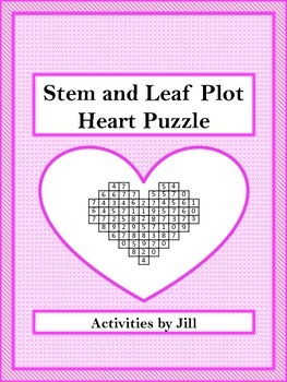 stem and leaf plot heart puzzle freebie by activities by jill tpt. Black Bedroom Furniture Sets. Home Design Ideas