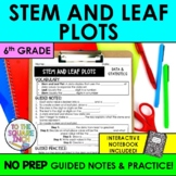 Stem and Leaf Plot Notes