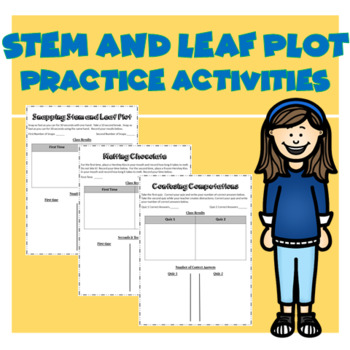 Stem and Leaf Plot Practice Activities