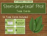 Stem and Leaf Plot Task Cards