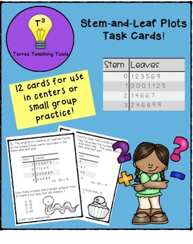 Stem-and-Leaf Plot Task Cards
