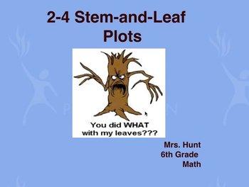 Stem and Leaf Plot Video