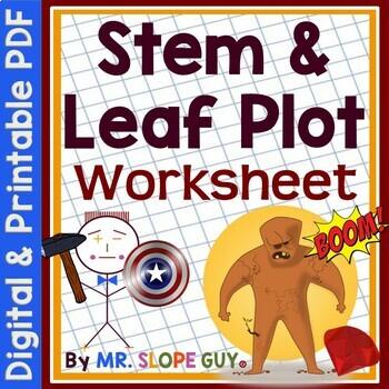 Stem And Leaf Plot Worksheet Teachers Pay Teachers