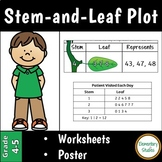 Stem and Leaf Plot Worksheets and Poster | Distance Learning