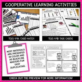Stem and Leaf Plot and Personal Financial Literacy- TEKS Math Activities