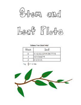 Stem and Leaf Plots!