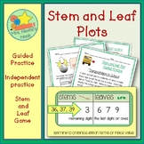 Stem and Leaf Plots - Guided and Independent Practice