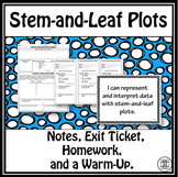 Stem and Leaf Plots Lesson