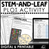 Stem-and-Leaf Plots Activity | Math Center | Printable & G