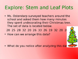 Stem and Leaf Plots Christmas Themed