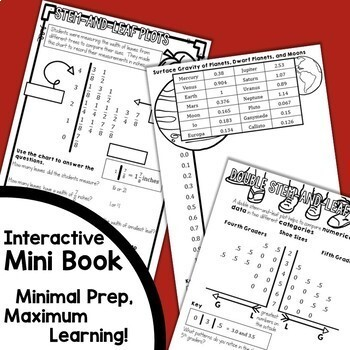Stem-and-Leaf Plots Interactive Notebook Set {Freebie}