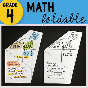 Math Doodle - Stem and Leaf Plots ~ INB Foldable Notes ~