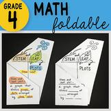 Math Doodle - Stem and Leaf Plots ~ INB Foldable Notes ~