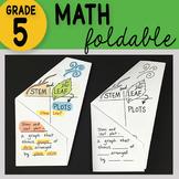 Math Doodle - Stem and Leaf Plots Math INB Foldable Notes