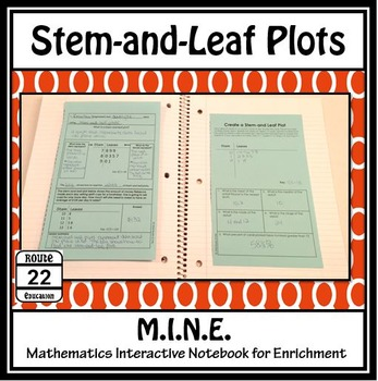 Stem and Leaf Plots Notes and Activity