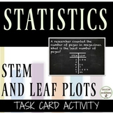 Stem and Leaf Plots Task Card activity for stations