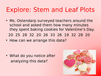 Stem and Leaf Plots Valentine's Day Theme