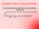 Stem and Leaf Plots Valentine's Day Theme
