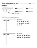 Stem and Leaf Plots Worksheet