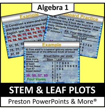 Stem and Leaf Plots in a PowerPoint Presentation