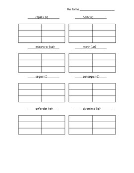 Stem-changing Verbs Practice Worksheet