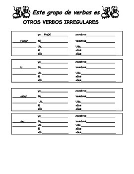 Stem changing verb packet