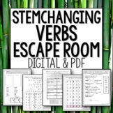Distance Learning Stem changing verbs Break Out Escape Room Spanish
