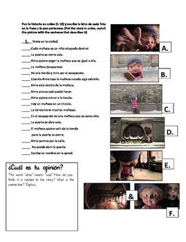 Stem-changing verbs and regular verbs in the Present tense. Corto de animación