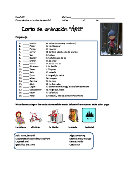 Stem-changing verbs and regular verbs in the Present tense