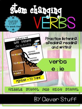 Spanish stem-changing verbs (e>ie) in present tense bundle.
