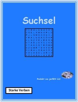 Stem changing verbs in German Wordsearch