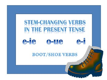 Stem-changing verbs in Spanish in the present tense.