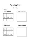 Stem changing verbs o to ue Tic Tac Toe game