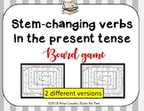 Stem changing verbs present tense GAME