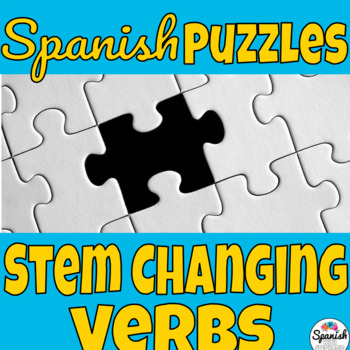 Spanish stem-changing verbs puzzle activity
