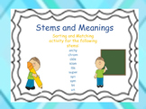 Stems and Meanings