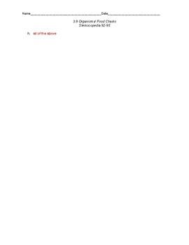 Stemscopedia Organisms and Food Chains TEK 3.9