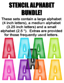 Stencil Alphabet Bundle