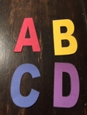 Stencil Alphabet Letters for Posters , Bulletin Boards or Banners