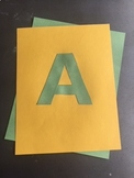 Stencil Capital Alphabet Letters for Posters , Bulletin Boards or Banners