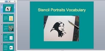 Stencil Portraits High School Art Lesson!