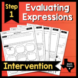 Step 1 ✩ Evaluate Linear Expressions ✩ Texas Algebra Inter