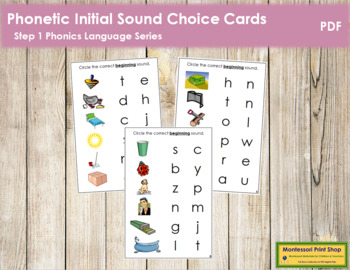 Step 1: Phonetic Initial Sound Choice Cards