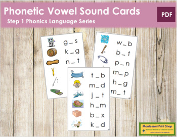 Step 1: Phonetic Medial Sound Cards