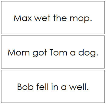 Step 1: Phonetic Sentence Cards (Set 2)