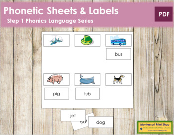 Step 1: Phonetic Sheets and Labels