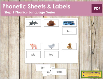 Step 1: Phonetic Sheets and Labels (real pictures)